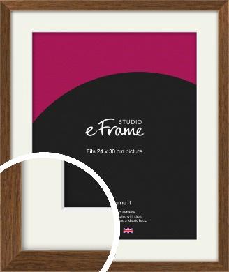 Elegant Timeless Brown Picture Frame & Mount, 24x30cm (VRMP-540-M-24x30cm)