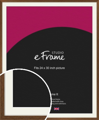 Elegant Timeless Brown Picture Frame & Mount, 24x30