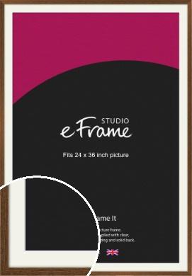 Elegant Timeless Brown Picture Frame & Mount, 24x36