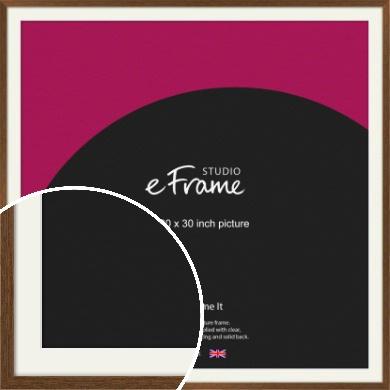 Elegant Timeless Brown Picture Frame & Mount, 30x30