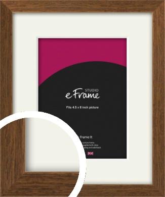 Elegant Timeless Brown Picture Frame & Mount, 4.5x6