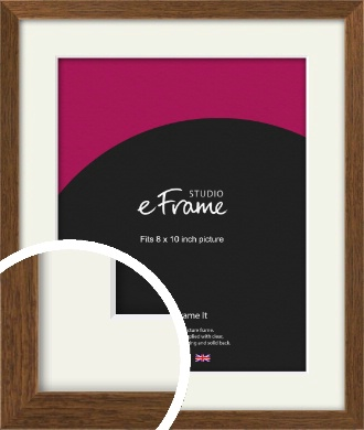 Elegant Timeless Brown Picture Frame & Mount, 8x10