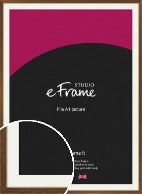 Elegant Timeless Brown Picture Frame & Mount, A1 (594x841mm) (VRMP-540-M-A1)