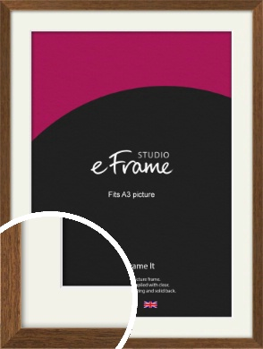 Elegant Timeless Brown Picture Frame & Mount, A3 (297x420mm) (VRMP-540-M-A3)