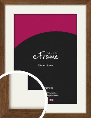Elegant Timeless Brown Picture Frame & Mount, A4 (210x297mm) (VRMP-540-M-A4)