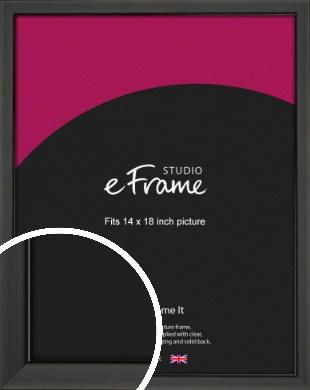 Modern Classic Black Picture Frame, 14x18