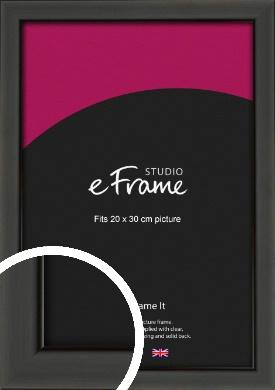 Modern Classic Black Picture Frame, 20x30cm (8x12