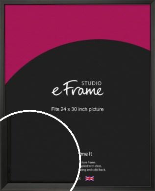 Modern Classic Black Picture Frame, 24x30