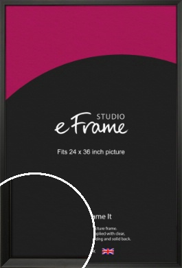 Modern Classic Black Picture Frame, 24x36
