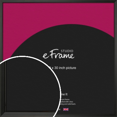 Modern Classic Black Picture Frame, 30x30