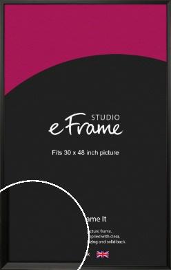 Modern Classic Black Picture Frame, 30x48
