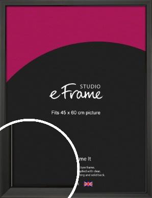 Modern Classic Black Picture Frame, 45x60cm (VRMP-382-45x60cm)