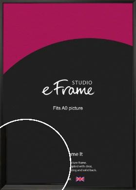 Modern Classic Black Picture Frame, A0 (841x1189mm) (VRMP-382-A0)