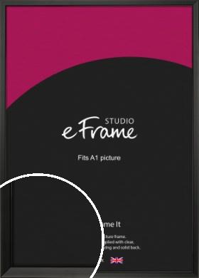 Modern Classic Black Picture Frame, A1 (594x841mm) (VRMP-382-A1)