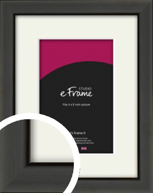 Modern Classic Black Picture Frame & Mount, 4x6
