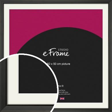 Modern Classic Black Picture Frame & Mount, 50x50cm (VRMP-382-M-50x50cm)