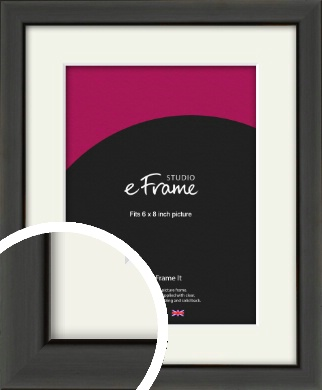 Modern Classic Black Picture Frame & Mount, 6x8