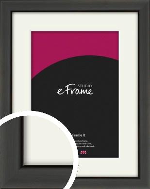 Modern Classic Black Picture Frame & Mount (VRMP-382-M)