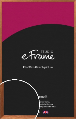 Terracotta Brown Picture Frame, 30x48