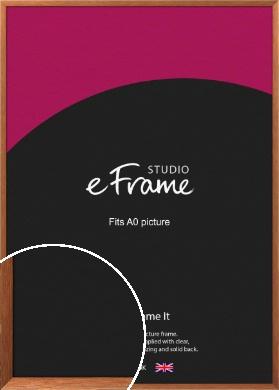 Terracotta Brown Picture Frame, A0 (841x1189mm) (VRMP-541-A0)