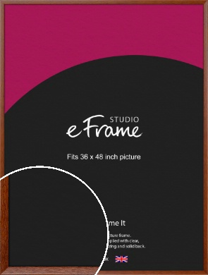 Plain & Simple Brown Picture Frame, 36x48