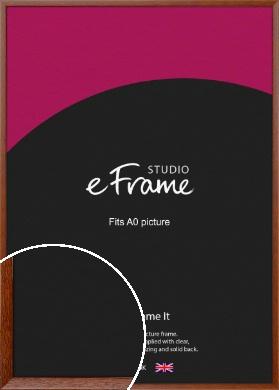 Plain & Simple Brown Picture Frame, A0 (841x1189mm) (VRMP-543-A0)