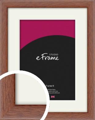 Plain & Simple Brown Picture Frame & Mount (VRMP-543-M)
