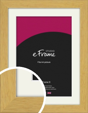 Timeless & Neutral Natural Wood Picture Frame & Mount, A4 (210x297mm) (VRMP-1112-M-A4)
