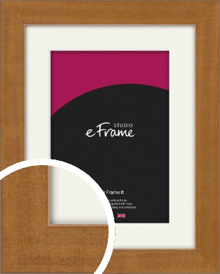 Toffee Brown Picture Frame & Mount (VRMP-1113-M)