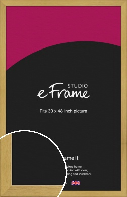 Blonde Natural Wood Picture Frame, 30x48