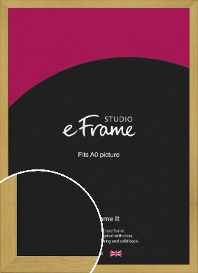 Blonde Natural Wood Picture Frame, A0 (841x1189mm) (VRMP-1114-A0)