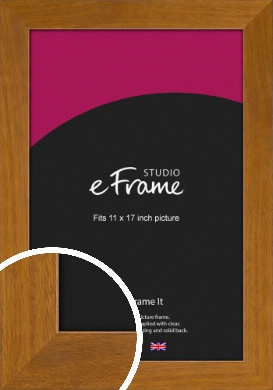 Flat Mid Brown Picture Frame, 11x17
