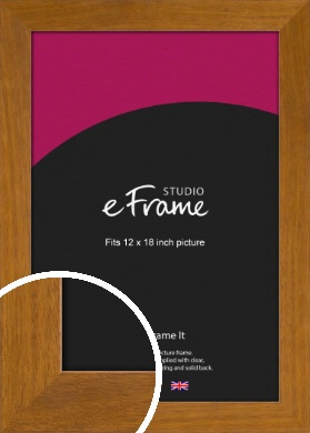 Flat Mid Brown Picture Frame, 12x18