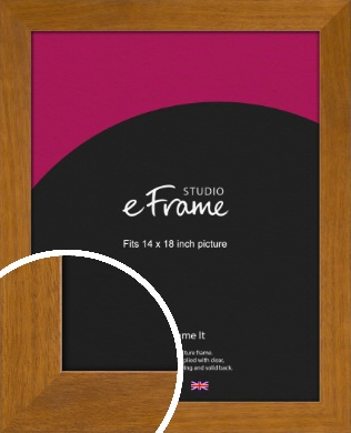 Flat Mid Brown Picture Frame, 14x18