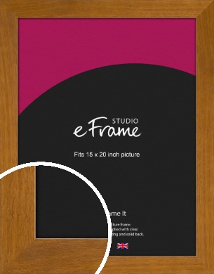 Flat Mid Brown Picture Frame, 15x20