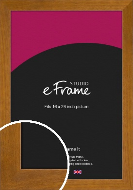Flat Mid Brown Picture Frame, 16x24