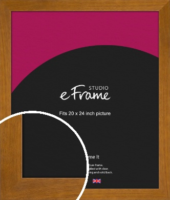 Flat Mid Brown Picture Frame, 20x24