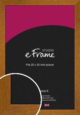 Flat Mid Brown Picture Frame, 20x30
