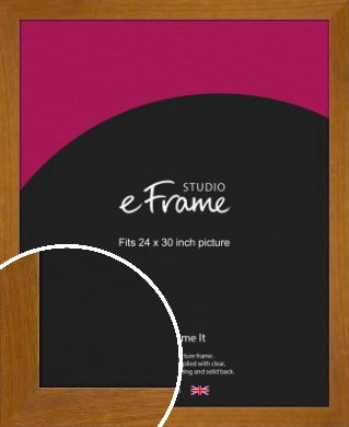 Flat Mid Brown Picture Frame, 24x30