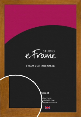 Flat Mid Brown Picture Frame, 24x36