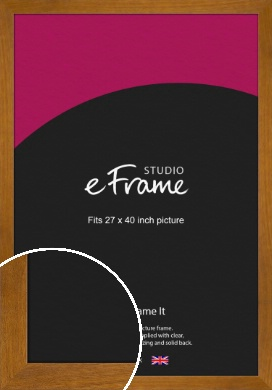 Flat Mid Brown Picture Frame, 27x40