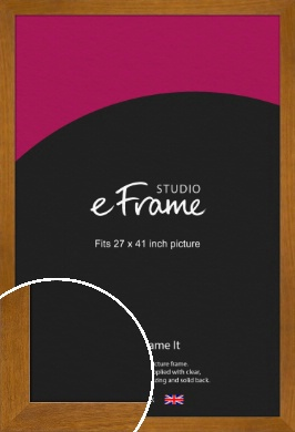 Flat Mid Brown Picture Frame, 27x41