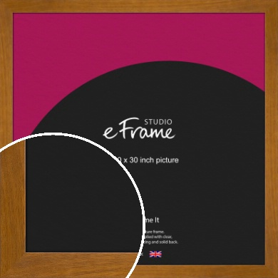 Flat Mid Brown Picture Frame, 30x30