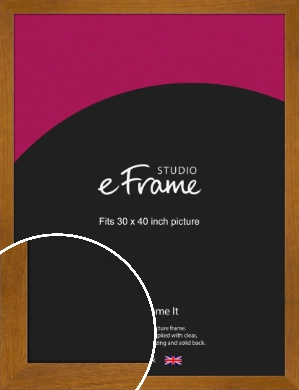 Flat Mid Brown Picture Frame, 30x40