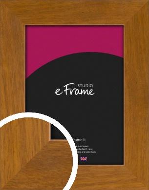 Flat Mid Brown Picture Frame (VRMP-1115)