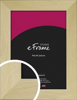 Straight Edged Unfinished Natural Wood Picture Frame, A4 (210x297mm) (VRMP-1119-A4)