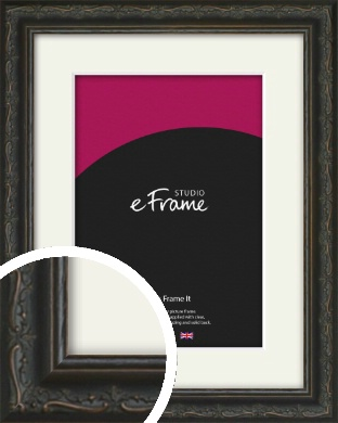 Chinese Inspired Black Picture Frame & Mount (VRMP-1120-M)