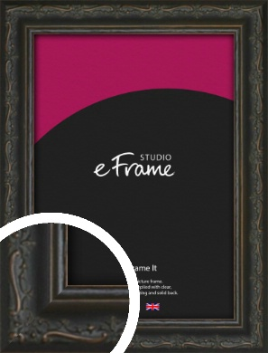 Chinese Inspired Black Picture Frame (VRMP-1120)