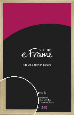Classic Scoop Natural Wood Picture Frame, 30x48
