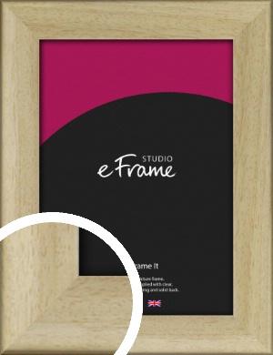 Classic Scoop Natural Wood Picture Frame (VRMP-1122)